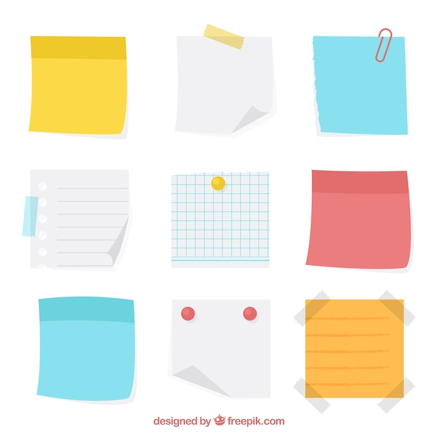 variety of sticky notes vector free download rh freepik com sticky note vector illustrator free sticky note vector image