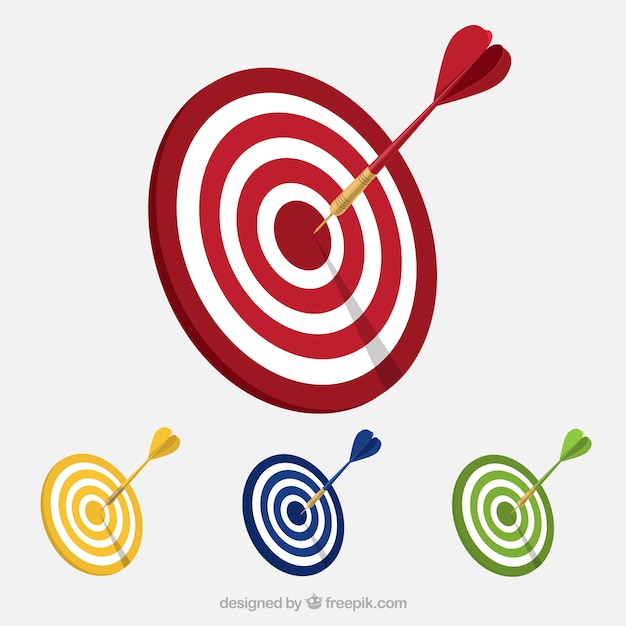 Variety of targets Free Vector