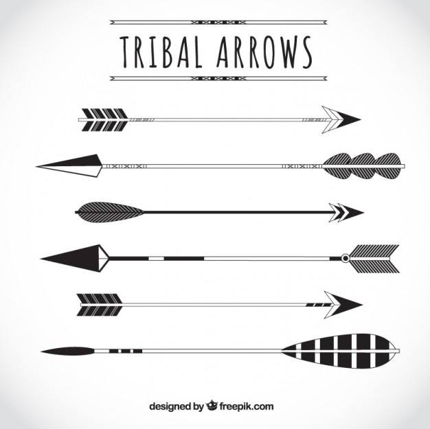 variety of tribal arrows vector free download rh freepik com Single Black Arrow Vector Cute Arrow Vector