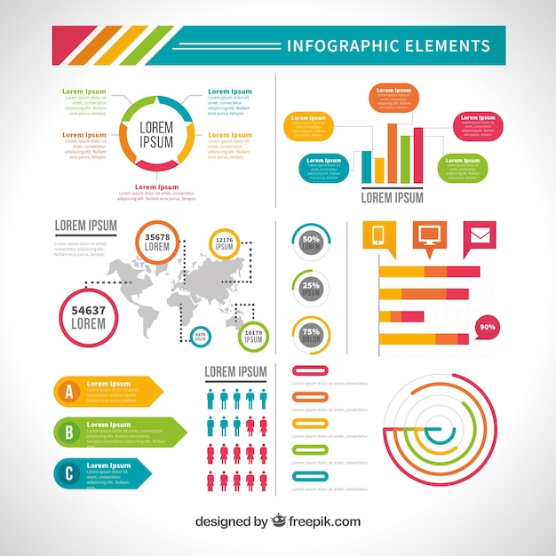 Elements Of Design Variety : Variety of useful infographic elements in flat design