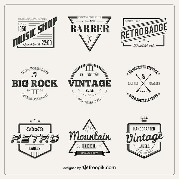 Variety of vintage badges