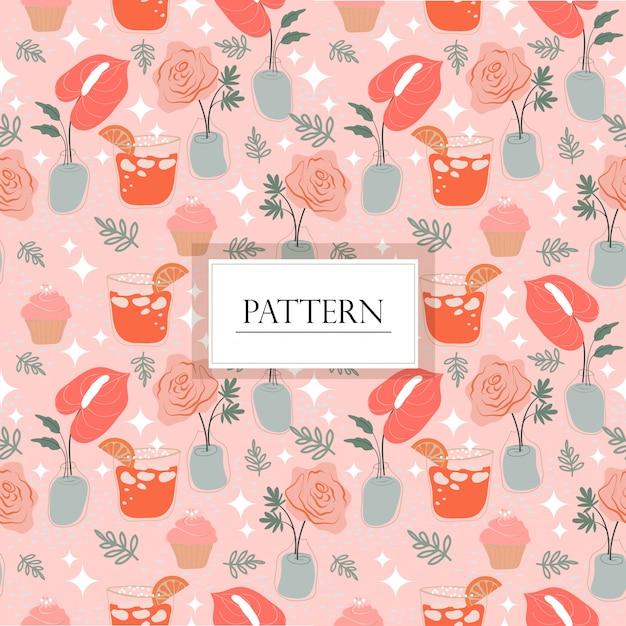 Variety wedding items seamless pattern Premium Vector