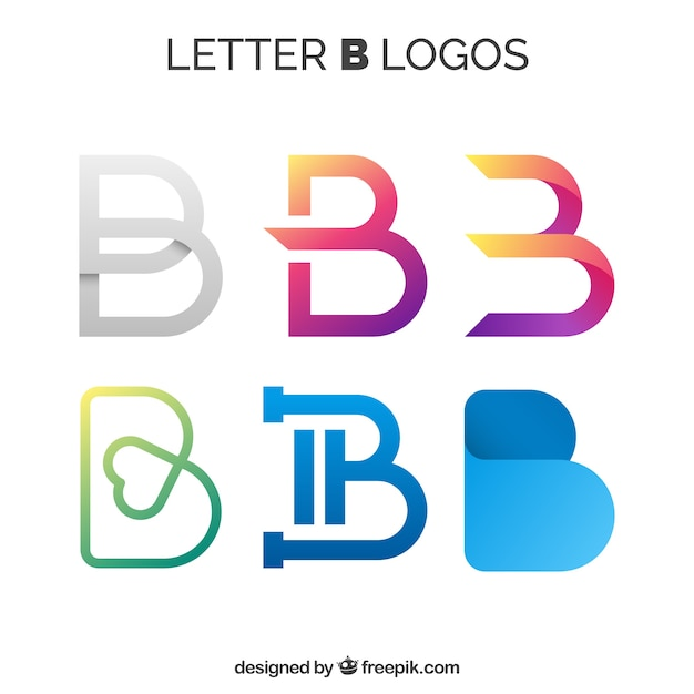 Various abstract logos of letter