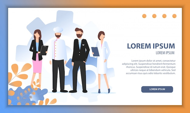 Various career character growing business together Premium Vector
