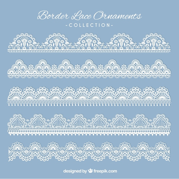 Various classic lace borders Free Vector