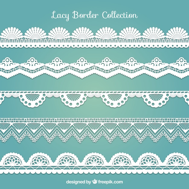 Various Decorative Lace Borders Vector Free Download