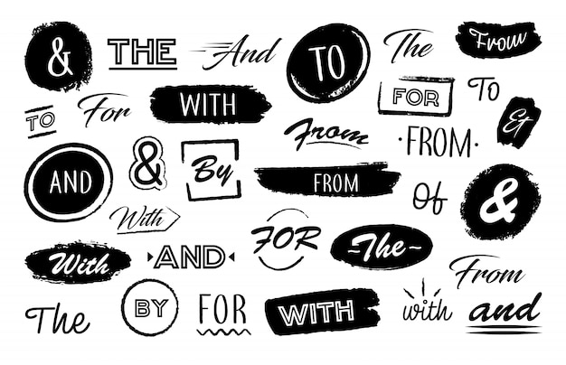 Различные буквы амперсанда и слова Бесплатные векторы
