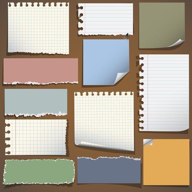 Бумага для заметок Premium векторы