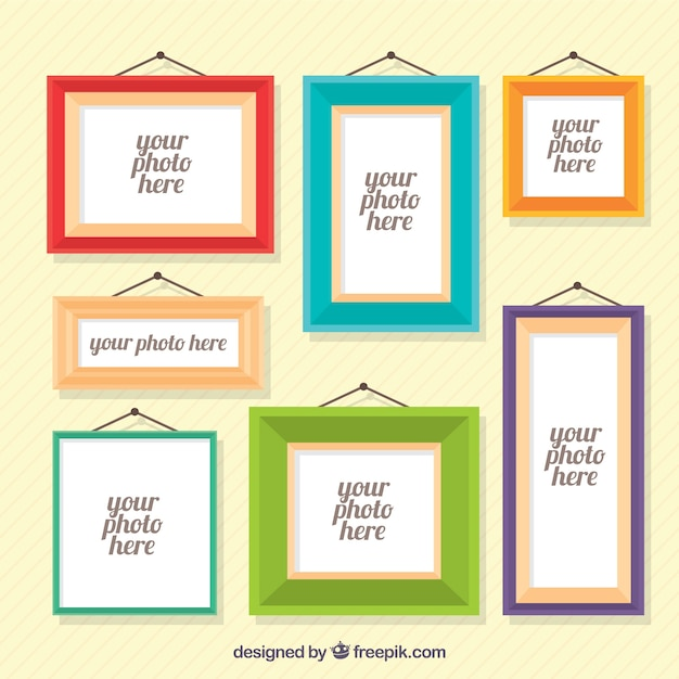 Various photo frames in flat design Vector | Free Download