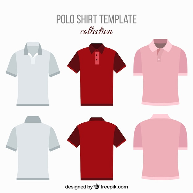 Various polo shirts for men Free Vector