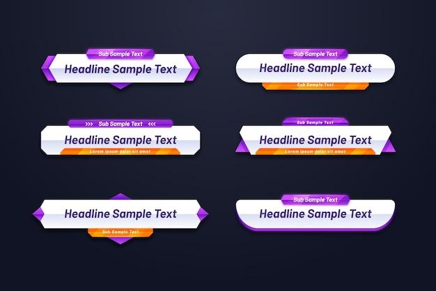Webバナーテンプレートのさまざまな形 無料ベクター
