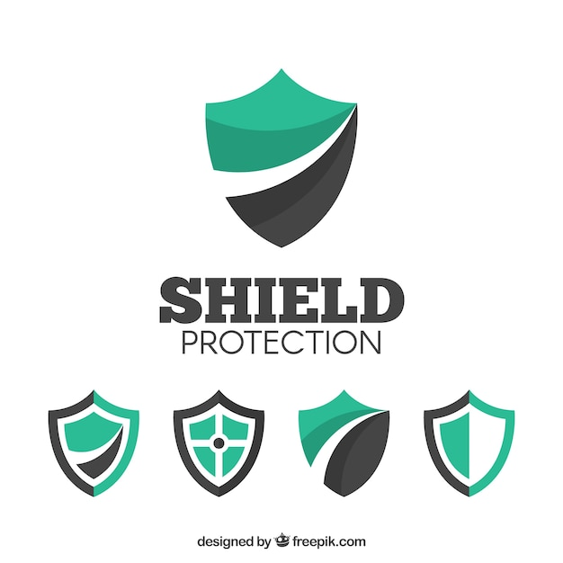 Various shield logos Vector | Free Download