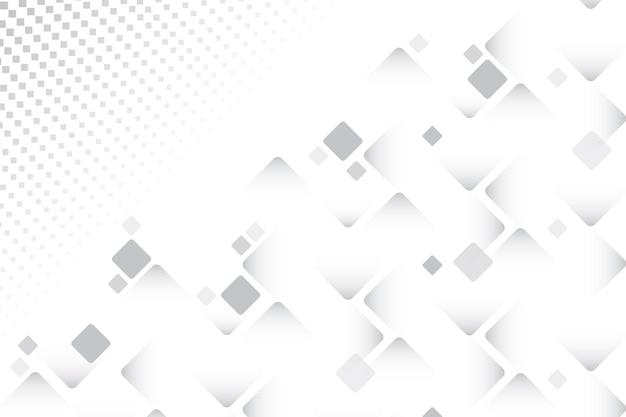 さまざまなサイズの正方形の白い背景 無料ベクター