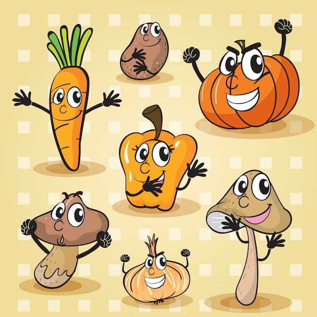 various vegetables Free Vector