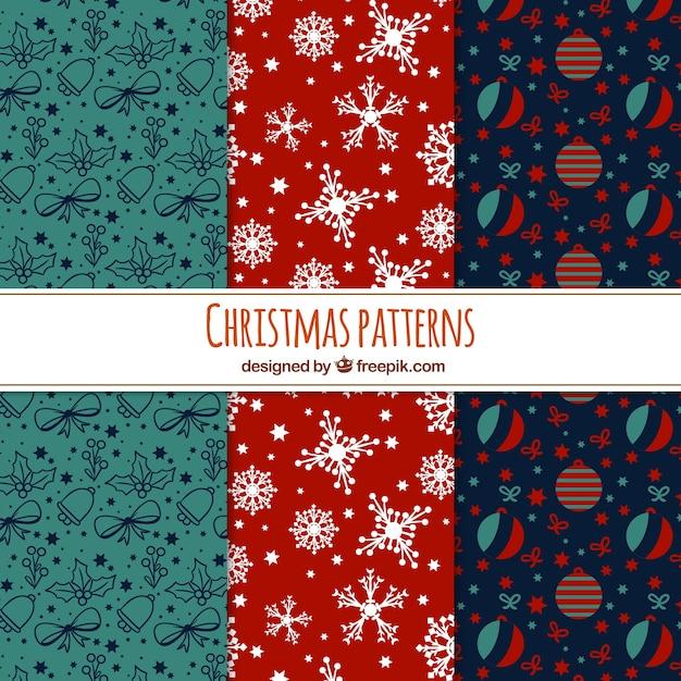 Various vintage christmas patterns