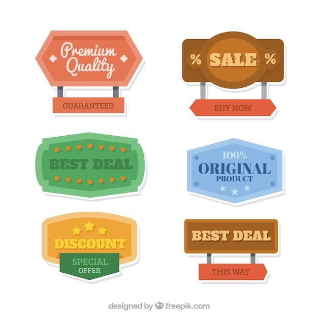 Various vintage sale posters