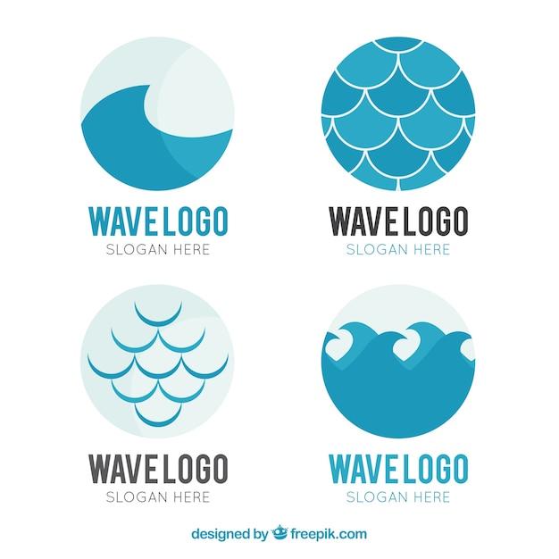 various wave logos vector free download