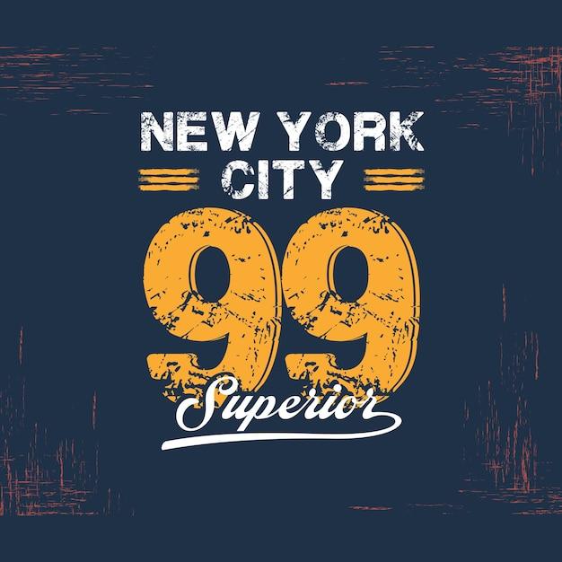 Varsity college new york typography Premium Vector
