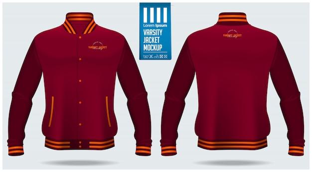 Varsity jacket template Premium Vector