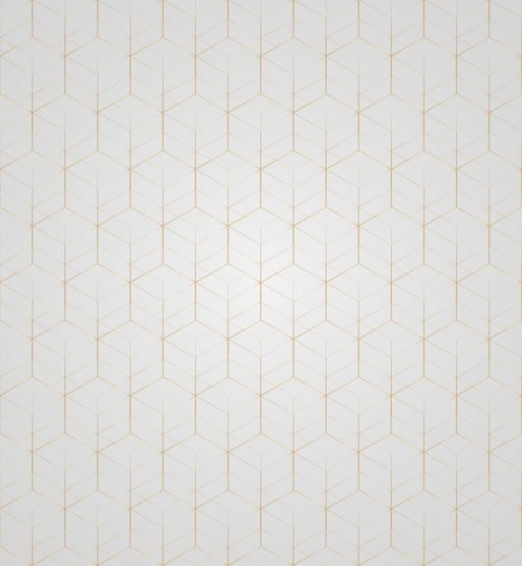 Vector 3d gold geometric square Premium Vector