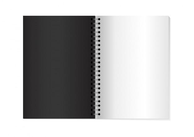 Vector 3d opened notebook mock up. Premium Vector