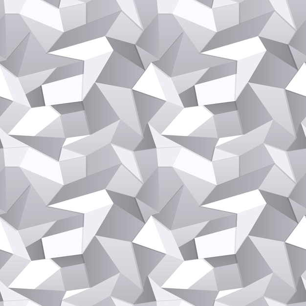 Vector 3d seamless crumpled paper abstract background Free Vector