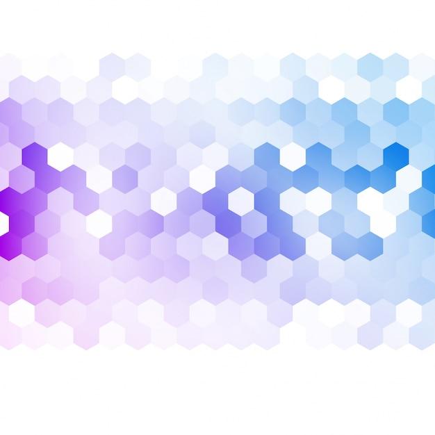 ベクトル抽象的な3d六角形。 無料ベクター