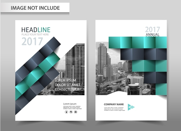 Vector abstract background brochure flyer template a4 size design. Premium Vector