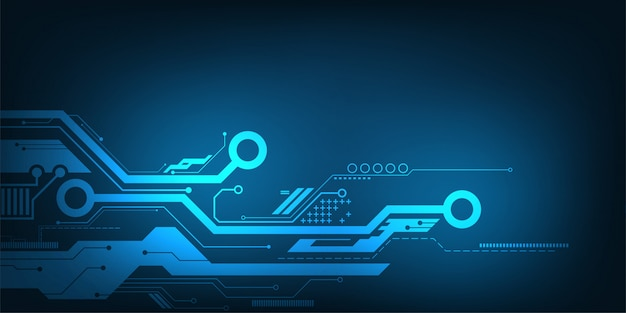 Vector abstract background technology electronic circuit design. Premium Vector