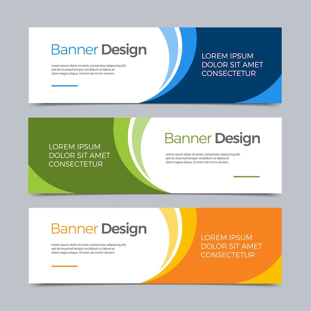 Vector abstract banner modern web template Premium Vector