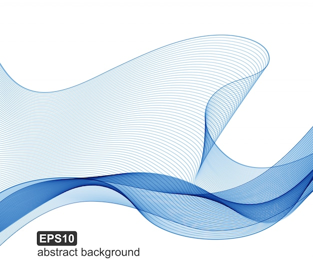Vector abstract blue waves background. Premium Vector