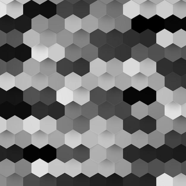 Vector abstract color 3d hexagonal. Free Vector