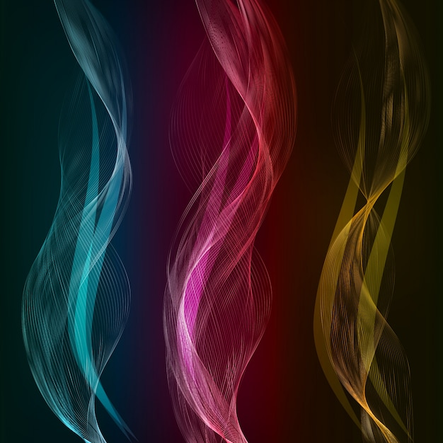 Vector abstract color waves design element. Free Vector