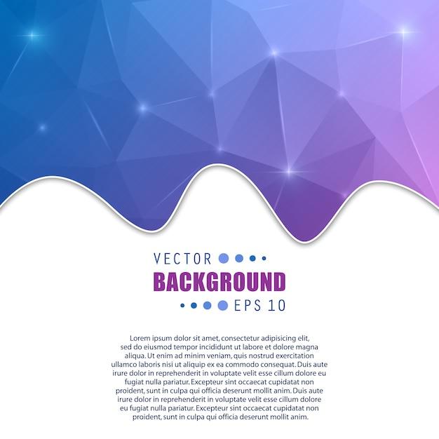 Vector abstract creative background. Premium Vector