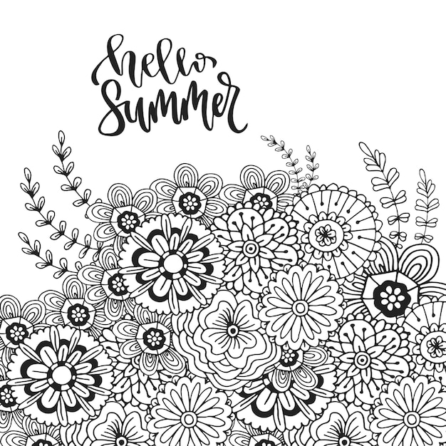 Summer Zentangle Coloring Pages : Coloring Pages - Patinsudouest