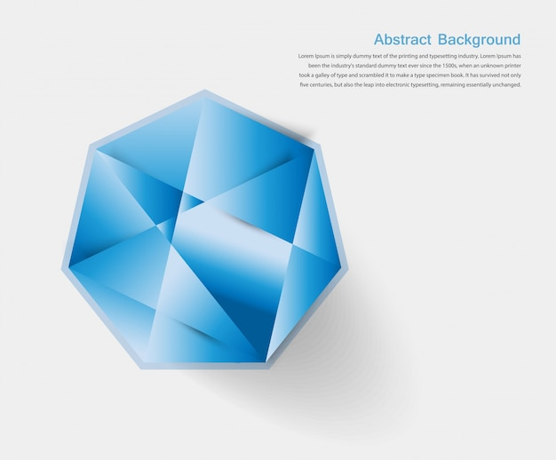 Vector abstract gem and blue ice Vector   Free Download