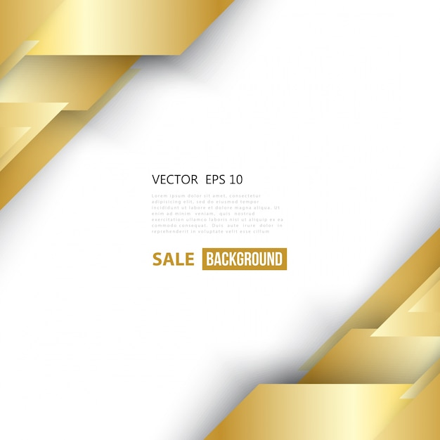 Vector abstract geometric gold\ background