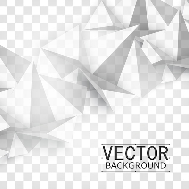 Vector abstract geometric shape from gray. Free Vector