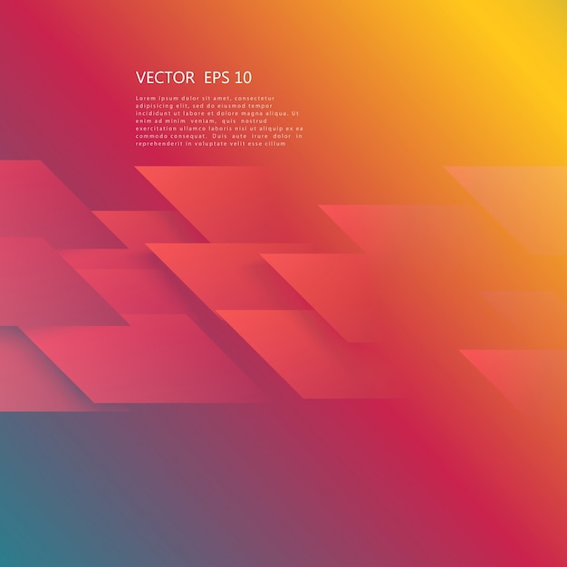 Vector abstract geometric shape from red Free Vector