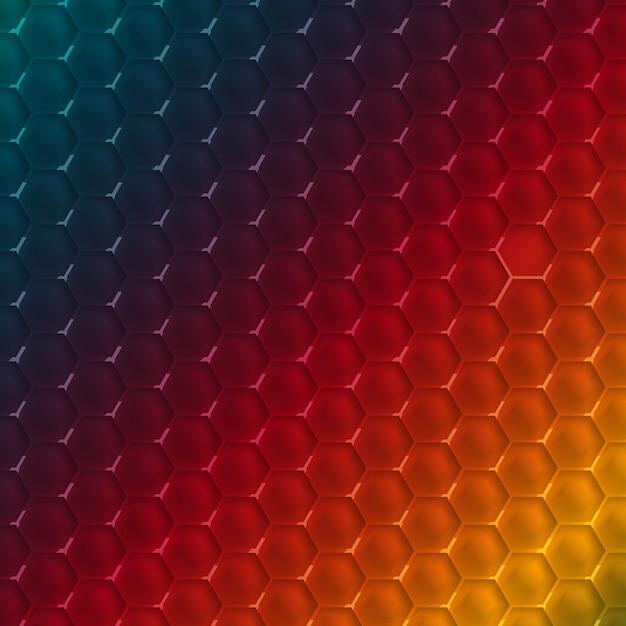 Vector abstract hexagon shape design template. Free Vector