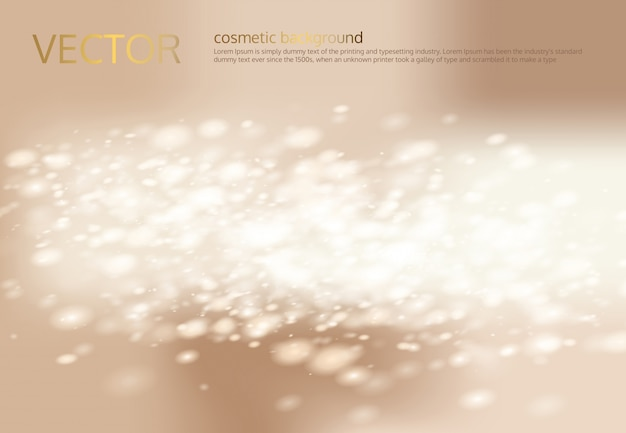 Vector abstract light beige background with silver sparkles, sequins. Free Vector