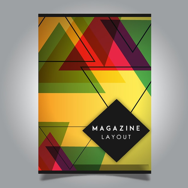 Vector abstract magazine layout template designs Vector ...