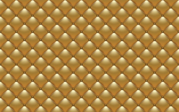 Vector abstract upholstery or gold leather texture sofa background Premium Vector