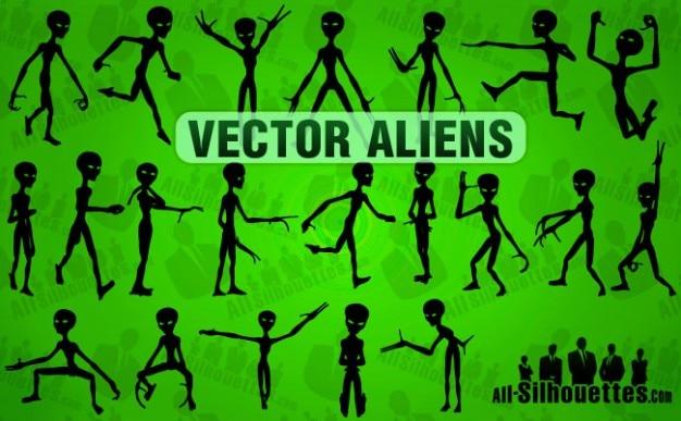 Vector Aliens Free Vector