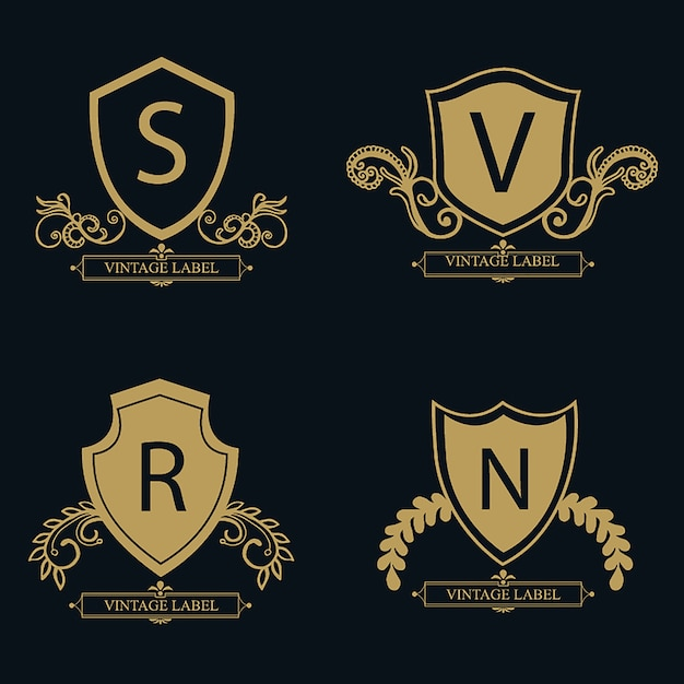 Vector Amazing Luxury Logo Designs