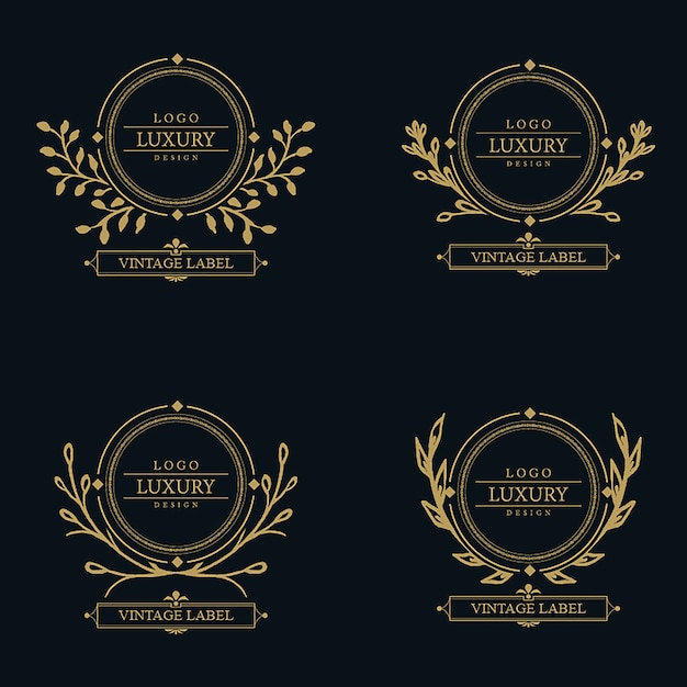 Vector Amazing Luxury Logo Designs Free Vector