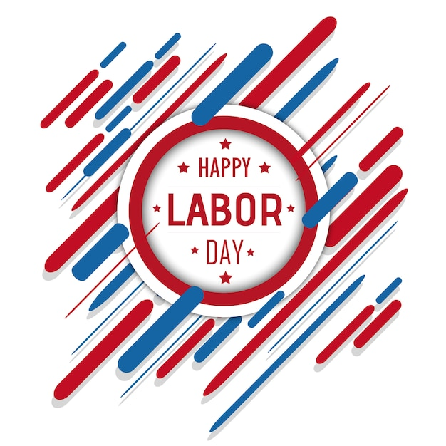 Vector american labor day background Free Vector