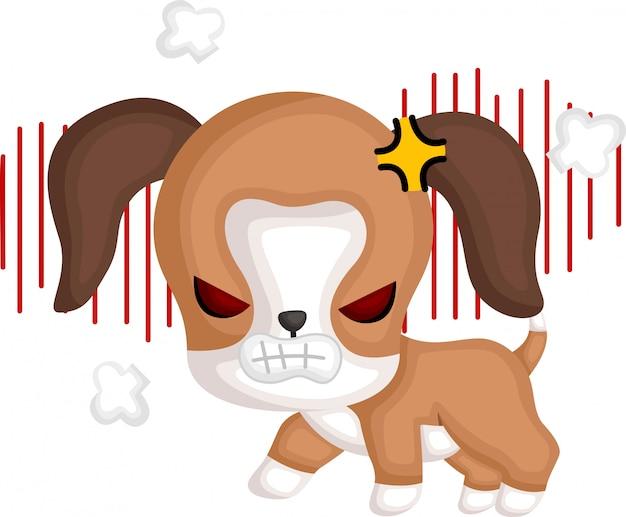 Un vettore di un beagle arrabbiato Vettore gratuito