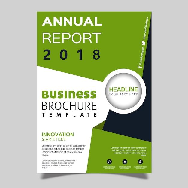 Vector annual report brochure template design Free Vector