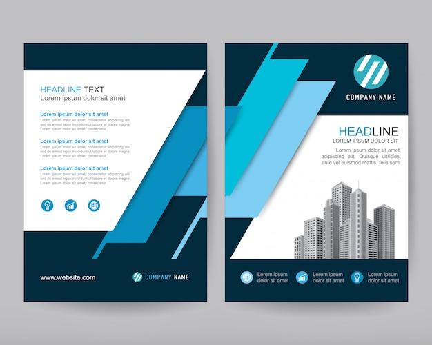 Vector annual report business brochure, flyers design Premium Vector